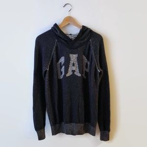 Gap Arch Hoodie Logo Knit Pullover Large